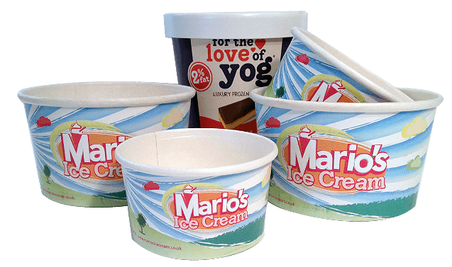 Mario's and many others, the paper ice cream cups have been proven to enhance the ice cream experience