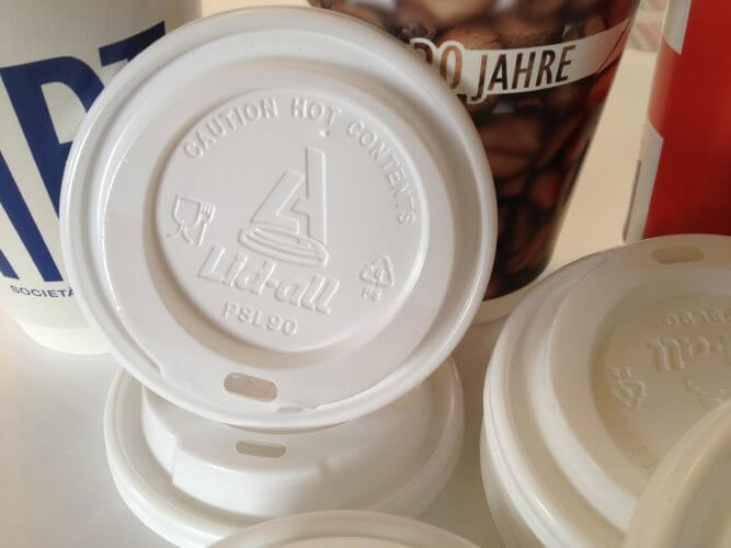 The Scyphus owned brand Lid All manufactures the perfect Sip Through Lids for all your Printed Paper Cups