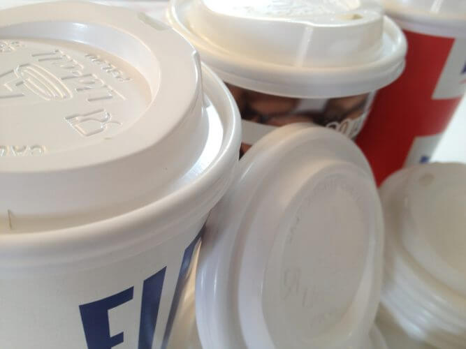 The Sip Through Lids are best used with Double Wall Cups