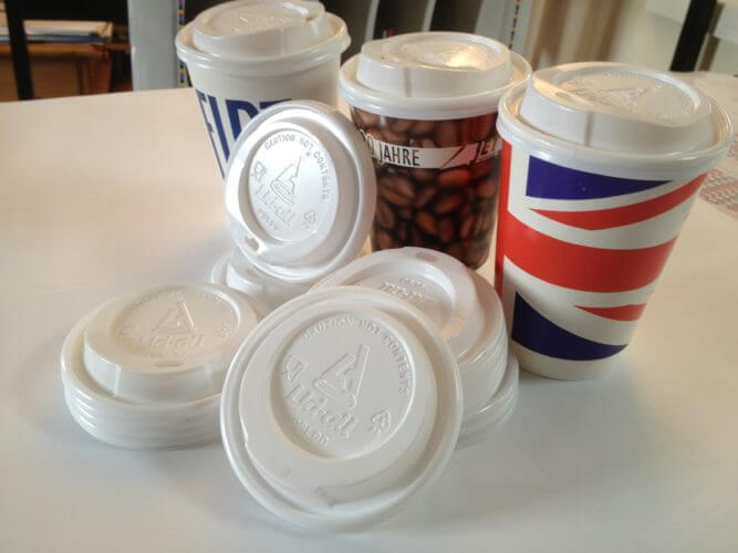 Sip through Lids are available for 8oz, 12oz and 16oz disposable coffee cups in 80mm/90mm sizes and fit snugly on our branded coffee cups