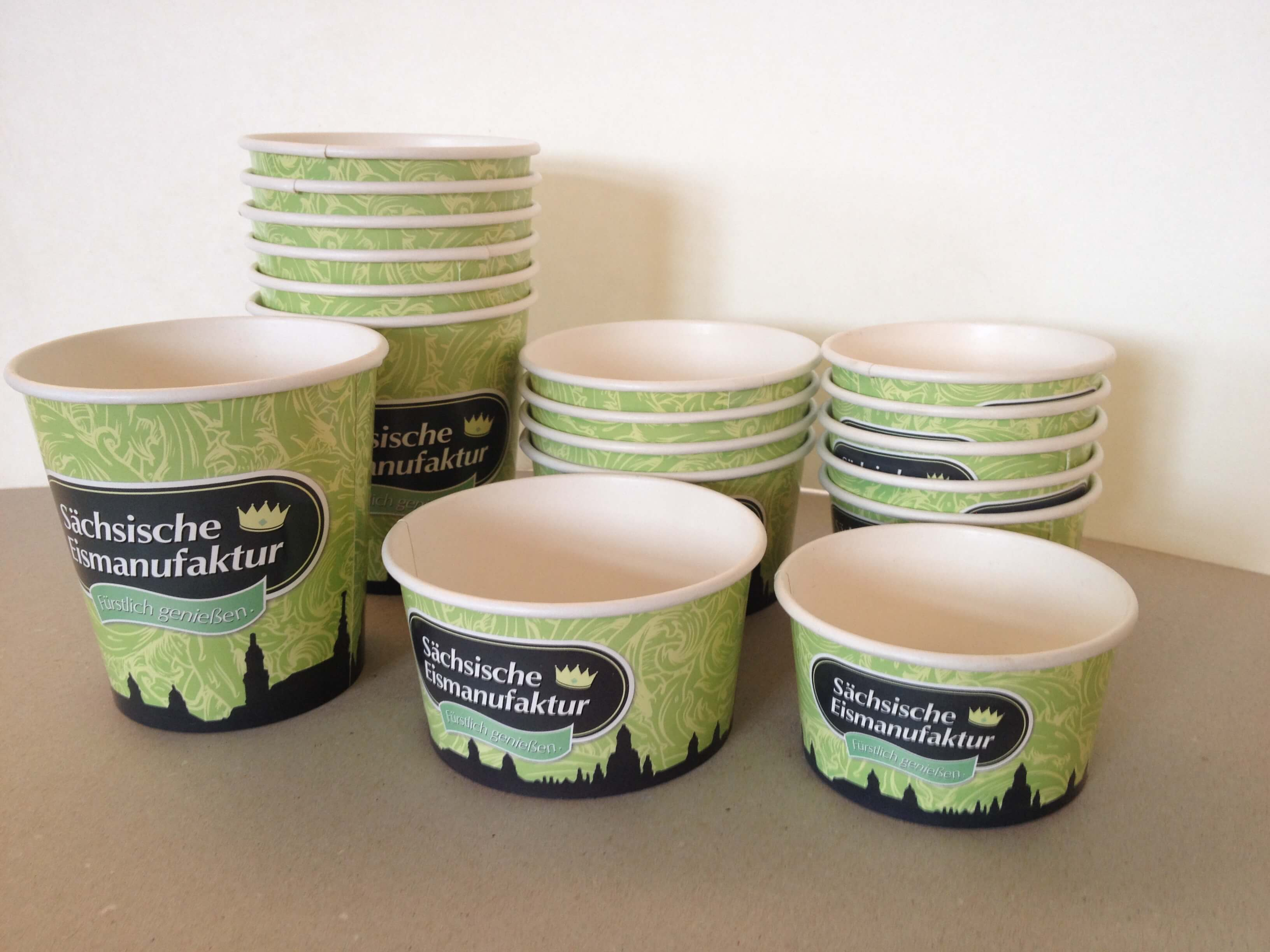Ice Cream Cups Branded Paper Cups Uk 100 Uk