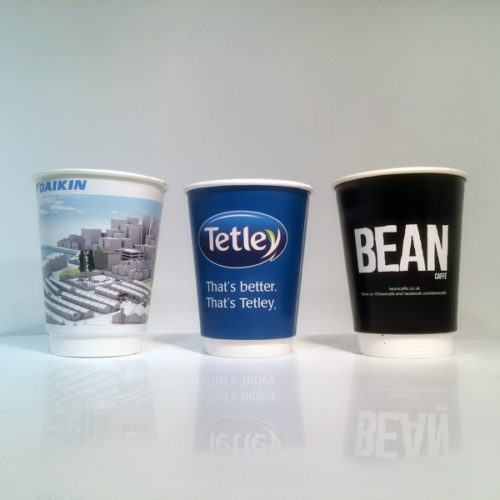 Tetley and Daikin in the same frame - such diverse is the use of Branded Coffee Cups, let's not forget that Printed Coffee Cups also double up as Branded Tea Cups for those who offer both Tea and Coffee