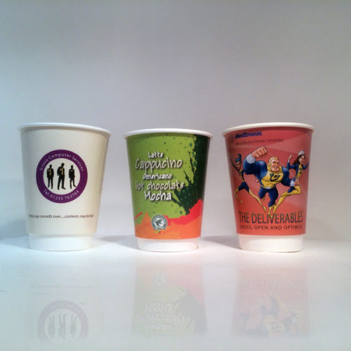 Double Wall Coffee Cups - the favourite Printed Coffee Cups of both customers and coffee shops