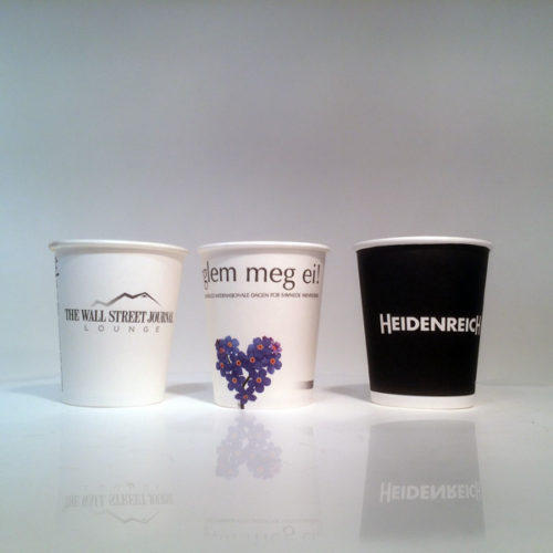 The best in European Quality Branded Paper Cups - the best impression of your brand at the vending machine