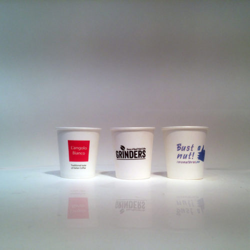 The best in European Quality Printed Paper Cups - the best impression of your brand at the watering hole