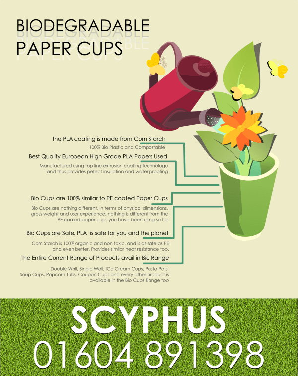 Biodegradable Paper Cup Range Launched