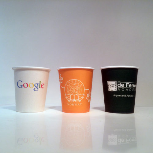 Usually smaller in quantity but the larger chunk of orders for single wall paper cups come from event managers.