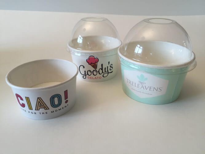 Branded Ice Cream Pots - the best in print quality branded ice cream cups you can find in Europe
