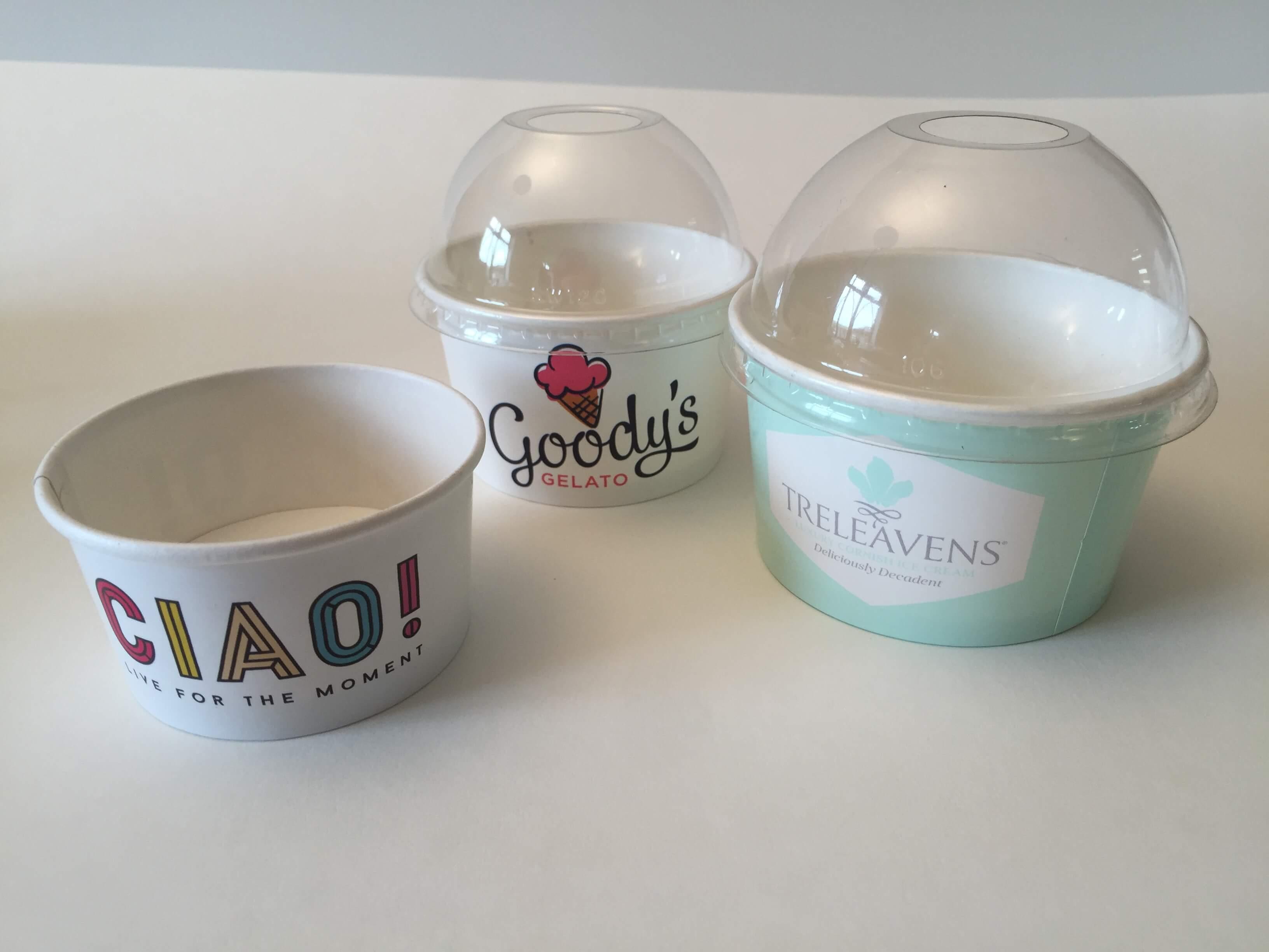 Ice Cream Cups - Branded Paper Cups UK - 100% UK
