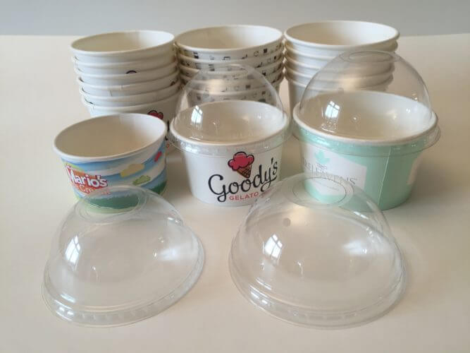 Ice Cream Cups - Branded Ice Cream Cups are made of minimum 265gsm thick paper and are perfectly freeze-proof and waterproof and to top everything, are so very beautiful and premium.