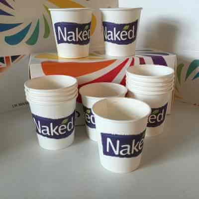 Naked Juice adopts PLA Biodegradable Paper Cups, manufactured by us at Branded Paper Cups